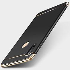 Huawei P30 Lite用ケース 高級感 手触り良い メタル兼プラスチック バンパー T01 ファーウェイ ブラック