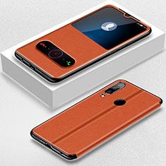 Huawei P30 Lite New Edition用手帳型 レザーケース スタンド カバー ファーウェイ ブラウン