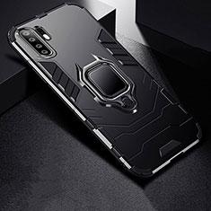 Huawei P30 Pro用ハイブリットバンパーケース スタンド プラスチック 兼シリコーン カバー ファーウェイ ブラック