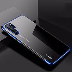 Huawei P30 Pro用極薄ソフトケース シリコンケース 耐衝撃 全面保護 クリア透明 H03 ファーウェイ ネイビー