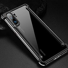 Huawei P30 Pro用ケース 高級感 手触り良い アルミメタル 製の金属製 バンパー カバー ファーウェイ ブラック