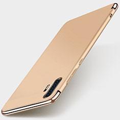 Huawei P30 Pro用ケース 高級感 手触り良い メタル兼プラスチック バンパー M01 ファーウェイ ゴールド