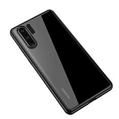 Huawei P30 Pro用ハイブリットバンパーケース クリア透明 プラスチック 鏡面 カバー Z01 ファーウェイ ブラック