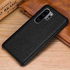 Huawei P30 Pro用ケース 高級感 手触り良いレザー柄 P01 ファーウェイ ブラック
