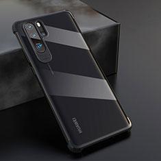 Huawei P30 Pro用極薄ソフトケース シリコンケース 耐衝撃 全面保護 クリア透明 S04 ファーウェイ ブラック