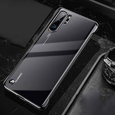 Huawei P30 Pro用ハードカバー クリスタル クリア透明 S04 ファーウェイ ブラック