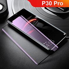 Huawei P30 Pro用強化ガラス フル液晶保護フィルム アンチグレア ブルーライト ファーウェイ ホワイト