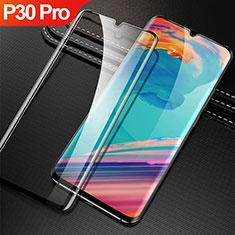 Huawei P30 Pro用強化ガラス フル液晶保護フィルム F04 ファーウェイ ブラック