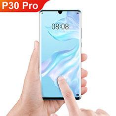Huawei P30 Pro用強化ガラス フル液晶保護フィルム F06 ファーウェイ ブラック