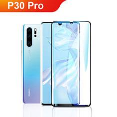 Huawei P30 Pro用強化ガラス フル液晶保護フィルム F09 ファーウェイ ブラック