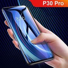 Huawei P30 Pro New Edition用強化ガラス フル液晶保護フィルム F10 ファーウェイ ブラック