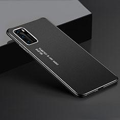 Huawei P40用ケース 高級感 手触り良い アルミメタル 製の金属製 カバー T05 ファーウェイ ブラック
