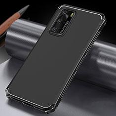 Huawei P40用ケース 高級感 手触り良い アルミメタル 製の金属製 カバー T04 ファーウェイ ブラック