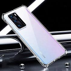 Huawei P40用極薄ソフトケース シリコンケース 耐衝撃 全面保護 クリア透明 K01 ファーウェイ クリア