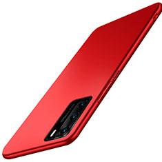 Huawei P40用ハードケース プラスチック 質感もマット カバー P02 ファーウェイ レッド