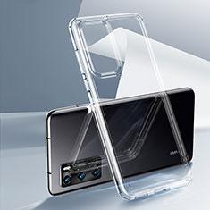 Huawei P40用極薄ソフトケース シリコンケース 耐衝撃 全面保護 クリア透明 K03 ファーウェイ クリア