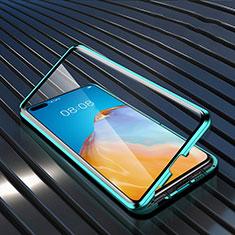 Huawei P40用ケース 高級感 手触り良い アルミメタル 製の金属製 360度 フルカバーバンパー 鏡面 カバー N04 ファーウェイ グリーン