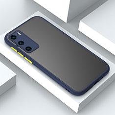 Huawei P40用ハイブリットバンパーケース プラスチック 兼シリコーン カバー N02 ファーウェイ ネイビー