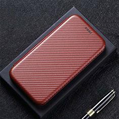 Huawei P40用手帳型 レザーケース スタンド カバー N10 ファーウェイ ブラウン