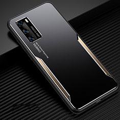 Huawei P40用ケース 高級感 手触り良い アルミメタル 製の金属製 カバー ファーウェイ ゴールド