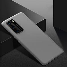 Huawei P40用ハードケース プラスチック 質感もマット カバー M02 ファーウェイ グレー