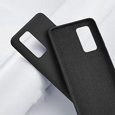 Huawei P40用360度 フルカバー極薄ソフトケース シリコンケース 耐衝撃 全面保護 バンパー S01 ファーウェイ ブラック