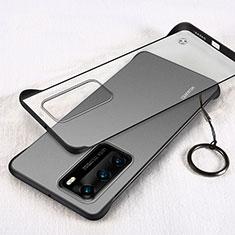 Huawei P40用ハードカバー クリスタル クリア透明 H02 ファーウェイ ブラック