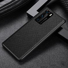 Huawei P40用360度 フルカバー極薄ソフトケース シリコンケース 耐衝撃 全面保護 バンパー S08 ファーウェイ ブラック