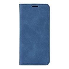 Huawei P40用手帳型 レザーケース スタンド カバー L02 ファーウェイ ネイビー