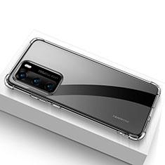 Huawei P40用極薄ソフトケース シリコンケース 耐衝撃 全面保護 クリア透明 カバー ファーウェイ クリア