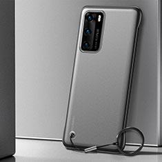 Huawei P40用ハードカバー クリスタル クリア透明 H04 ファーウェイ ブラック