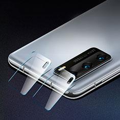 Huawei P40用強化ガラス カメラプロテクター カメラレンズ 保護ガラスフイルム C01 ファーウェイ クリア