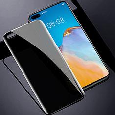 Huawei P40用反スパイ 強化ガラス 液晶保護フィルム M01 ファーウェイ クリア