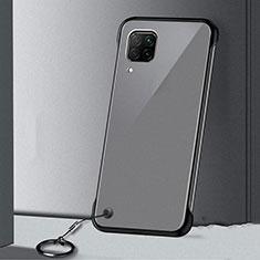 Huawei P40 Lite用ハードカバー クリスタル クリア透明 S01 ファーウェイ ブラック