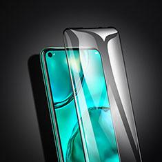 Huawei P40 Lite用強化ガラス フル液晶保護フィルム ファーウェイ ブラック