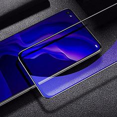 Huawei P40 Lite用強化ガラス フル液晶保護フィルム アンチグレア ブルーライト ファーウェイ ブラック