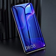 Huawei P40 Lite用強化ガラス フル液晶保護フィルム アンチグレア ブルーライト F02 ファーウェイ ブラック