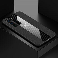 Huawei P40 Pro用極薄ソフトケース シリコンケース 耐衝撃 全面保護 C01 ファーウェイ ブラック