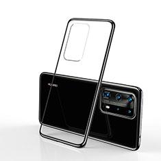 Huawei P40 Pro用極薄ソフトケース シリコンケース 耐衝撃 全面保護 クリア透明 S02 ファーウェイ ブラック