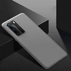Huawei P40 Pro用ハードケース プラスチック 質感もマット カバー M02 ファーウェイ グレー