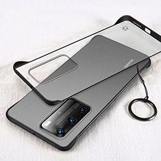 Huawei P40 Pro用ハードカバー クリスタル クリア透明 H02 ファーウェイ ブラック