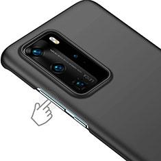 Huawei P40 Pro用ハードケース プラスチック 質感もマット ファーウェイ ブラック