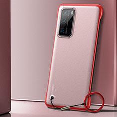 Huawei P40 Pro用ハードカバー クリスタル クリア透明 H01 ファーウェイ レッド