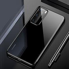 Huawei P40 Pro用極薄ソフトケース シリコンケース 耐衝撃 全面保護 クリア透明 H02 ファーウェイ ブラック