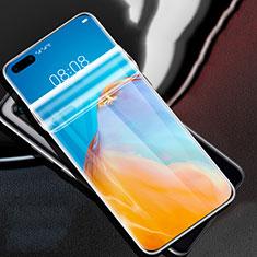 Huawei P40 Pro用高光沢 液晶保護フィルム フルカバレッジ画面 F01 ファーウェイ クリア