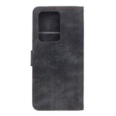 Huawei P40 Pro+ Plus用手帳型 レザーケース スタンド カバー T04 ファーウェイ ブラック