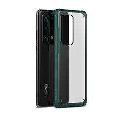 Huawei P40 Pro+ Plus用ハイブリットバンパーケース プラスチック 兼シリコーン カバー R01 ファーウェイ グリーン