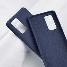 Huawei P40 Pro+ Plus用360度 フルカバー極薄ソフトケース シリコンケース 耐衝撃 全面保護 バンパー S01 ファーウェイ ネイビー