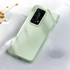 Huawei P40 Pro+ Plus用360度 フルカバー極薄ソフトケース シリコンケース 耐衝撃 全面保護 バンパー S07 ファーウェイ グリーン
