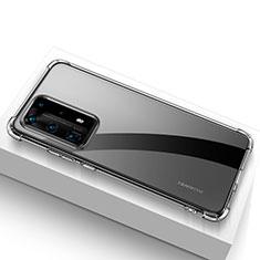 Huawei P40 Pro+ Plus用極薄ソフトケース シリコンケース 耐衝撃 全面保護 クリア透明 T02 ファーウェイ クリア